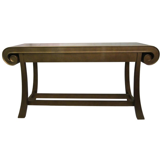 Aged Bronze Finish Console by Century Furniture - Image 1 of 8