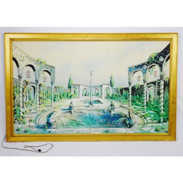 Vintage Signed Illuminated Giclee Painting on Panel - Image 2 of 9