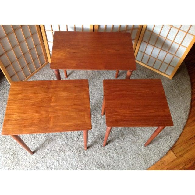 Danish Teak Nesting Tables - Set of 3 - Image 5 of 5