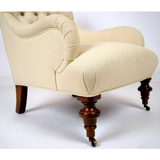 Continental-Style Tufted Bergeres - A Pair - Image 8 of 11