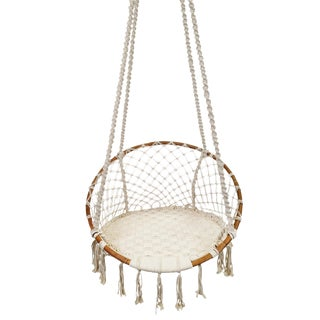 White Macrame Rope Swing For Sale