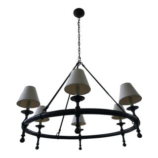 Visual Comfort Bronze Ring Chandelier For Sale