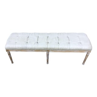 French Louis /Zentique Style Upholstered Bench For Sale