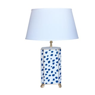 Dana Gibson Navy Fleck Table Lamp
