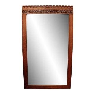 Carved Oak Floor Mirror