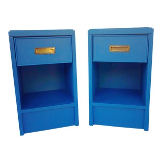 American of Martinsville Campaign Side Tables - a Pair