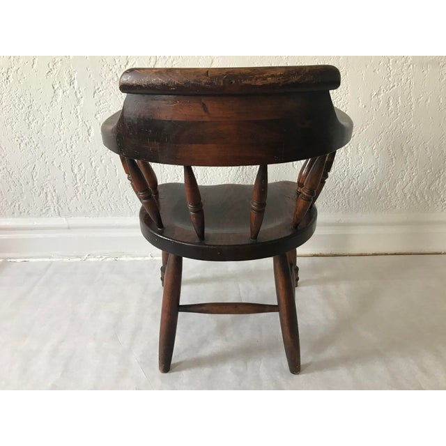"""19th Century Antique """"Captain"""" Arm Chair For Sale - Image 4 of 13"""