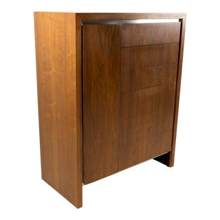 Mid Century Milo Baughman for Dillingham Armoire Chest of Drawers Highboy