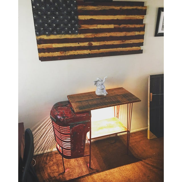 Rustic Tractor Table Wine Cabinet - Image 5 of 6