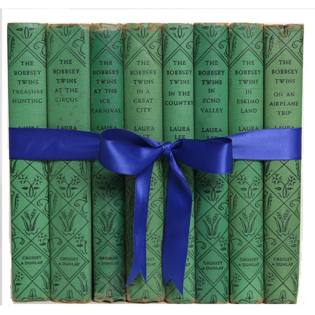 Vintage Book Gift Set: The Bobbsey Twins, S/8. Features a blend of eight authentic vintage books - all works feature...