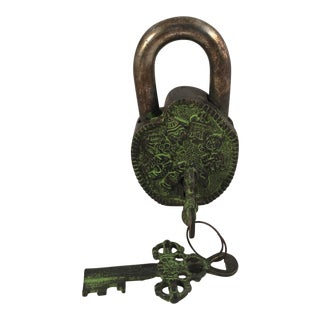 Early 20th Century Antique Bhutanese Lock and Keys