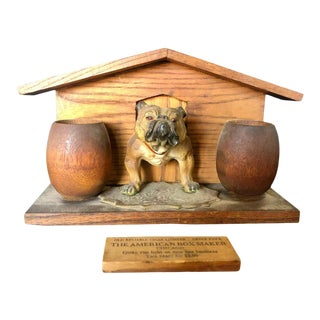 Bulldog and Kennel Humidor Cover, of Jerry Terranova For Sale