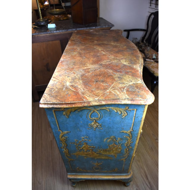 18th Century Italian Painted Chinoiserie Commode For Sale - Image 10 of 12