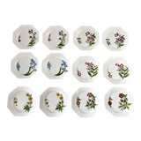 Image of Este Ceramiche Italy Flower Lunch Plates - Set/12 For Sale