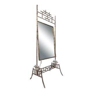 Bamboo Style Full Length Dressing Mirror For Sale