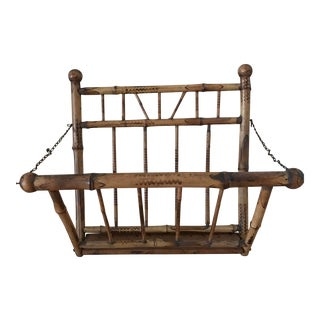 Faux Bamboo Magazine Rack For Sale