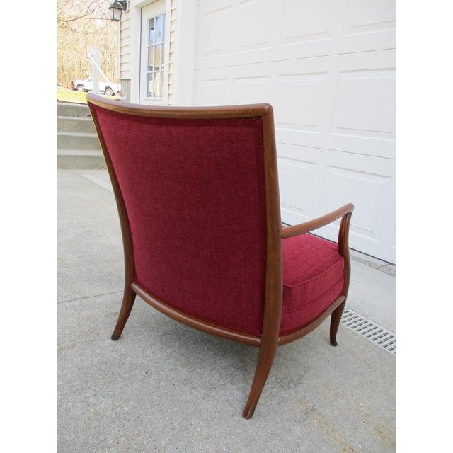T.H. Robsjohn Gibbings Robsjohn Gibbings for Widdicomb French Style Lounge Chair and Ottoman For Sale - Image 4 of 12
