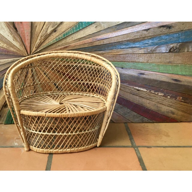 Bohemian Plant Stand Peacock Chair - Image 2 of 4