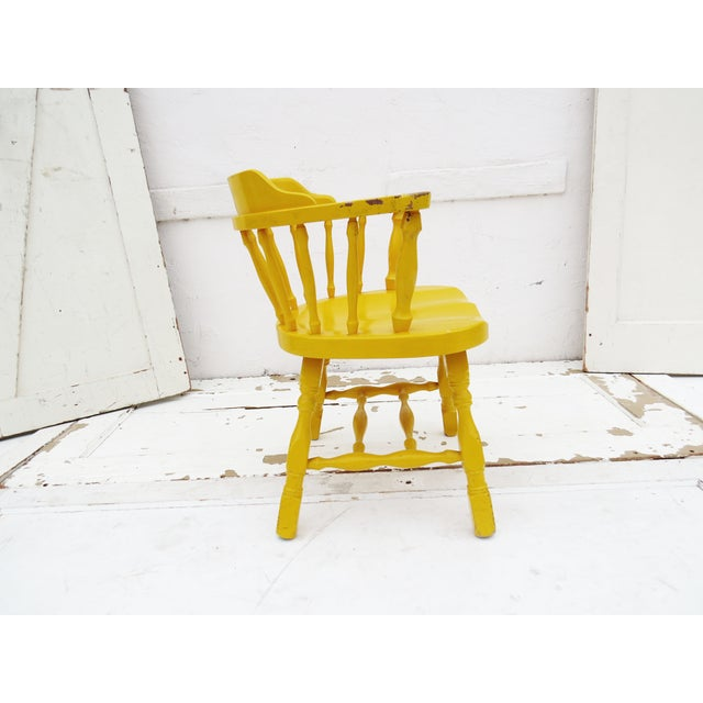 Yellow Captain's Chair - Image 4 of 4