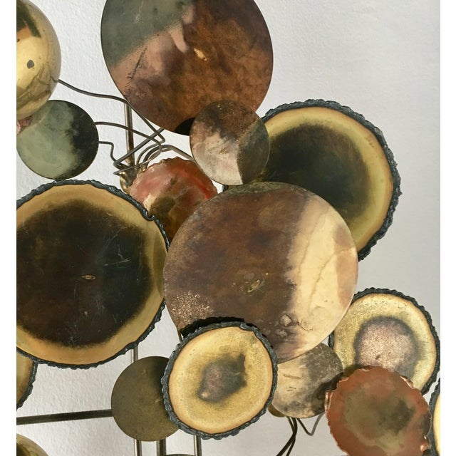 Mid-Century Modern A Brass Raindrops Metal Wall Sculpture by Curtis Jere For Sale - Image 3 of 7