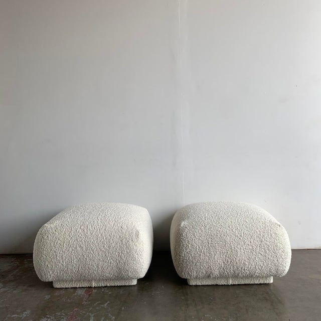 1980s 1980s Vintage Plinth Sherpa Ottoman For Sale - Image 5 of 12
