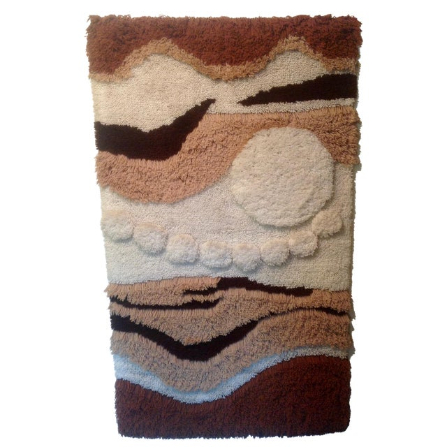 Danish Modern Wool Rya Hand Knotted Textile - Image 1 of 7