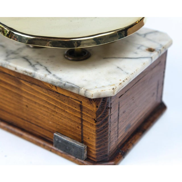 Late 19th Century Marble Top Bakery Scale, France, Late 19th Century For Sale - Image 5 of 11