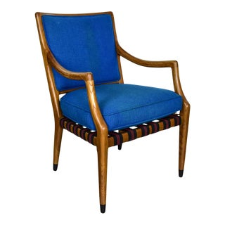 MCM Grand Haven Chair by Jack Van Der Molen for Jamestown Lounge in Blue Fabric For Sale
