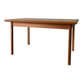 Mid Century Modern Teak Danish Dining Table Hidden Leaves For Sale