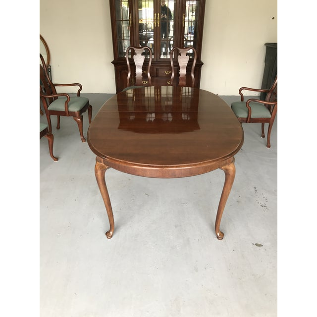 1970s Thomasville Queen Anne Dining Table For Sale - Image 10 of 13
