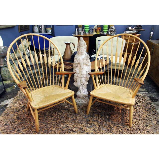 Pair of Hans Wegner Peacock Chairs Produced by Johannes Hansen For Sale In New York - Image 6 of 6
