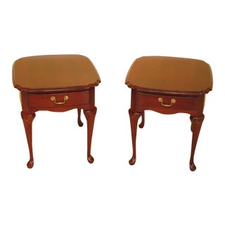 Pennsylvania House Cherry 1 Drawer End Tables - a Pair