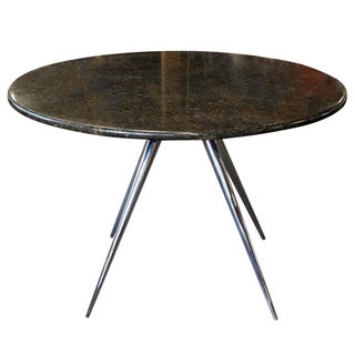 Round Marble Dining Table on Chrome Legs
