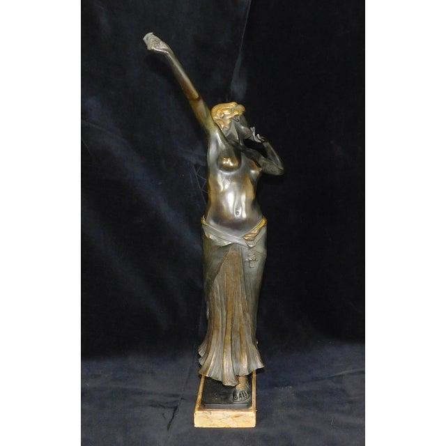 Art Nouveau Art-Nouveau Bronze Sculpture Salome ~ Rudolf Marcuse Gladenbeck & Sohn Foundry For Sale - Image 3 of 11
