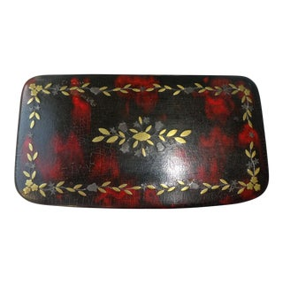 Victoriana Folk Art Papier Mache Snuff Box For Sale