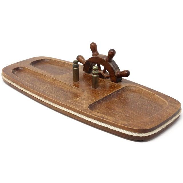 Vintage Wood Nautical Dresser Valet For Sale - Image 11 of 11