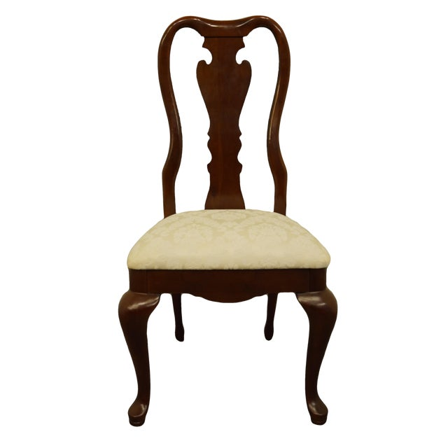 Late 20th Century Thomasville Furniture Collectors Cherry Collection Dining Side Chair For Sale