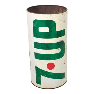 7-Up Wet & Wild Trash Can Pop Art Soda Can Metal Garbage For Sale