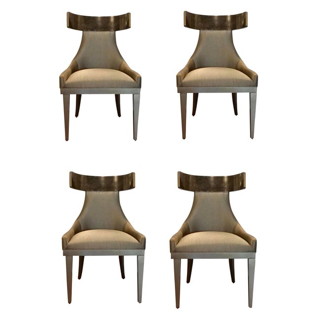 Gold Caracole Modern Sitting in Style Dining Chairs Set of Four For Sale - Image 8 of 8