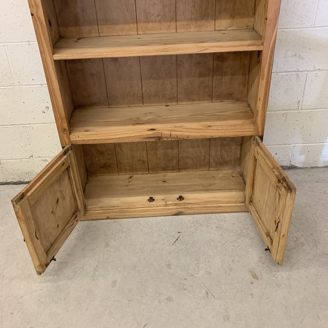 Metal Mexican Unfinished Pine Bookshelf For Sale - Image 7 of 13