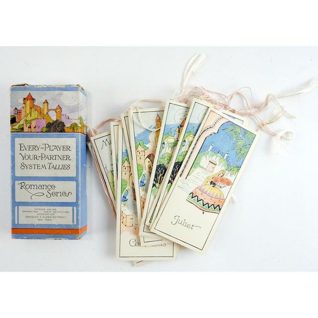 Paper Box Set 1920's Vintage Romance Series Bridge Tally Cards For Sale - Image 7 of 7