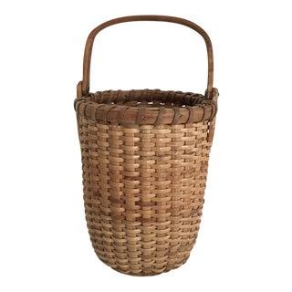 Antique Nantucket Basket Signed For Sale