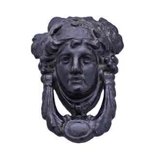 Victorian Feminine Face Door Knocker For Sale