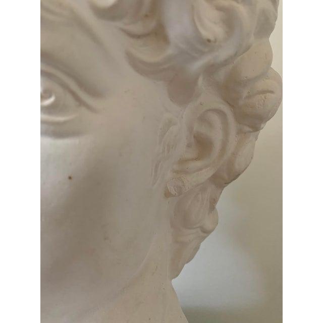 1990s Plaster Bust of David Sculpture For Sale - Image 11 of 12