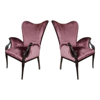 Elegant Pair of 1940s Butterfly Armchairs by Grosfeld House