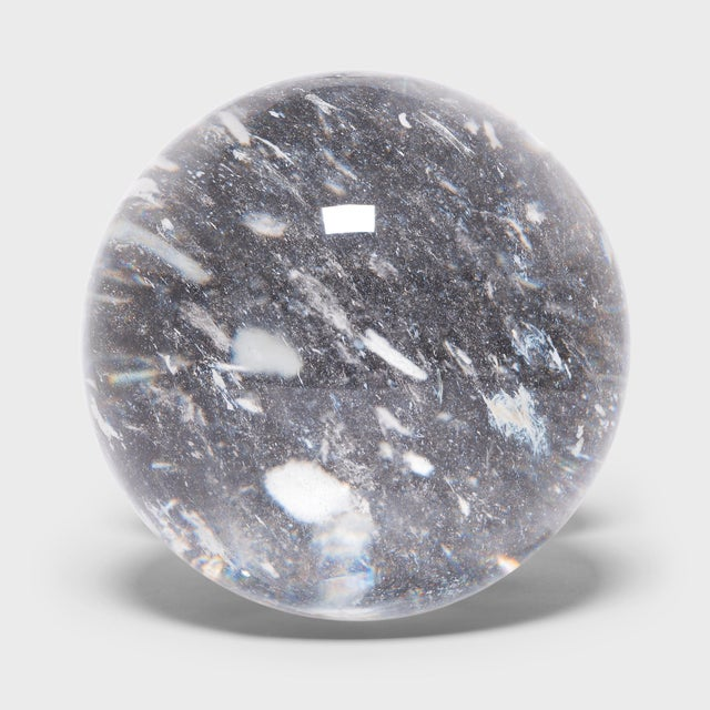 """Early 21st Century 10"""" Rock Crystal Sphere For Sale - Image 5 of 5"""