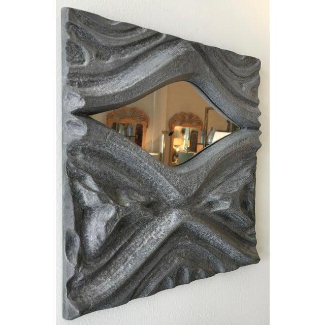 Brutalist Brutalist Style Pewter Mirror For Sale - Image 3 of 5
