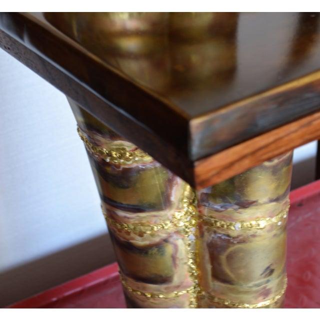Brass Scupltural Studio Brass Table Desk For Sale - Image 7 of 13