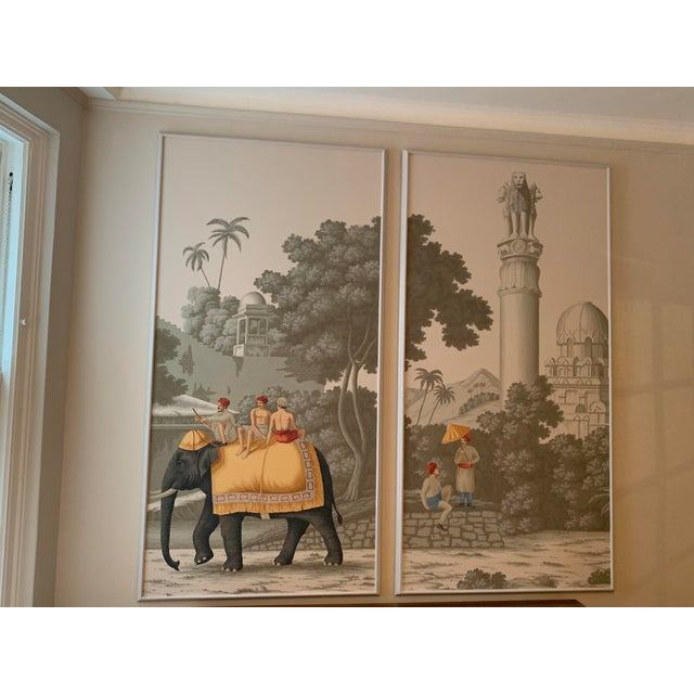 DeGournay Early Views of India Framed Panels - A Pair For Sale In New York - Image 6 of 6