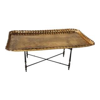 Moorish Rectangular Brass Tray Coffee Table For Sale